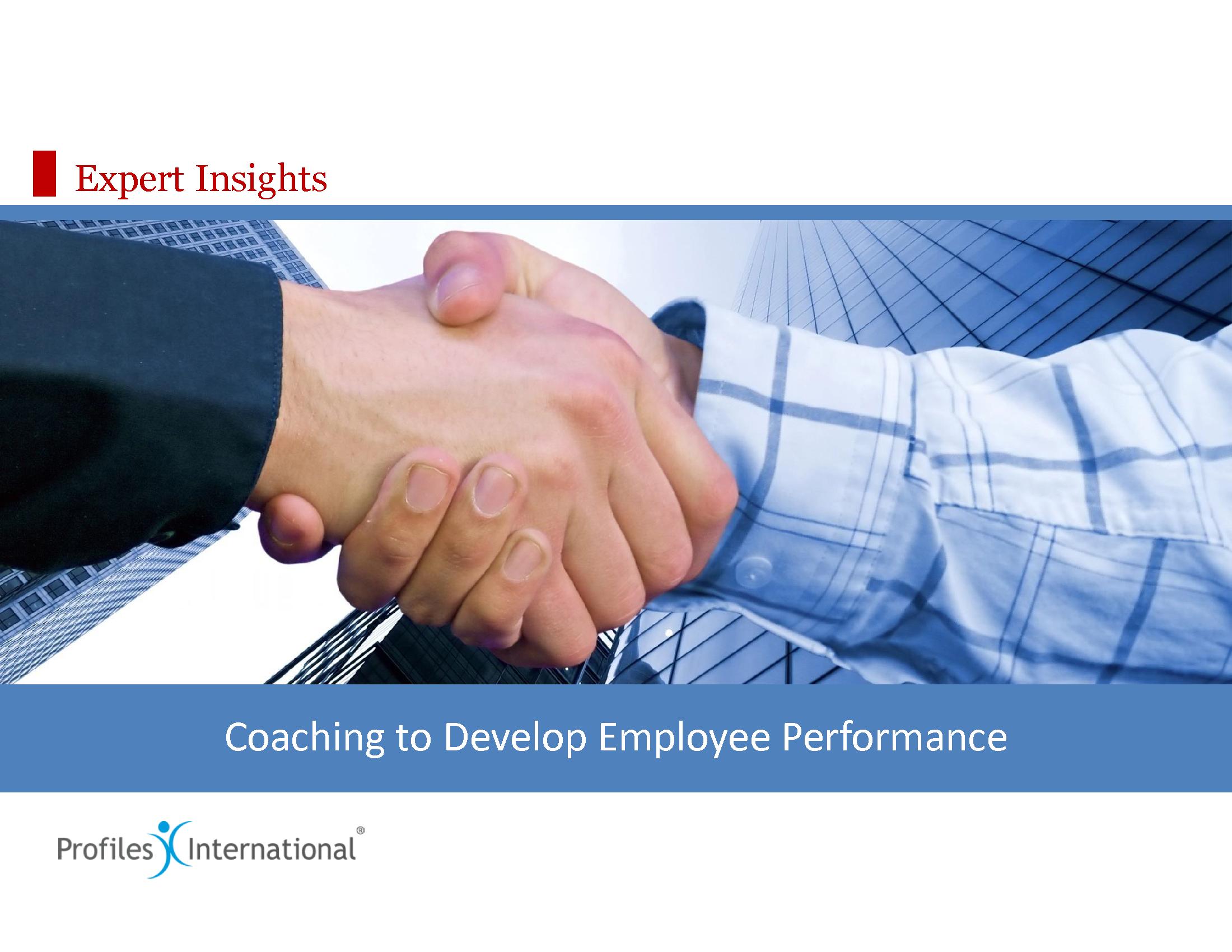07-Coaching to Develop Employee Performance